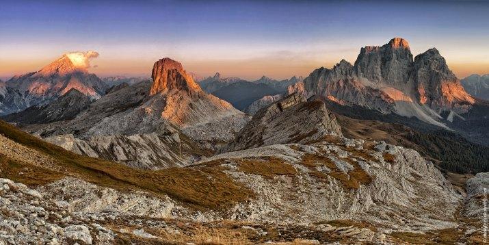 západ pri Monte Pelmo