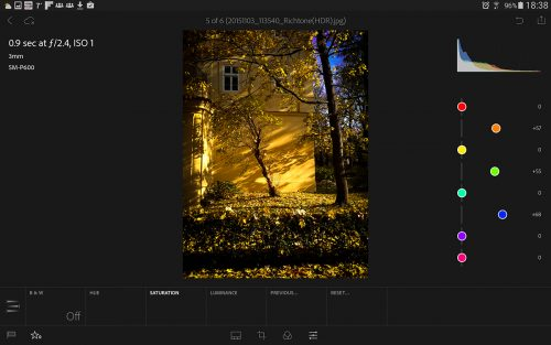 Adobe Lightroom mobile pro tablety Android